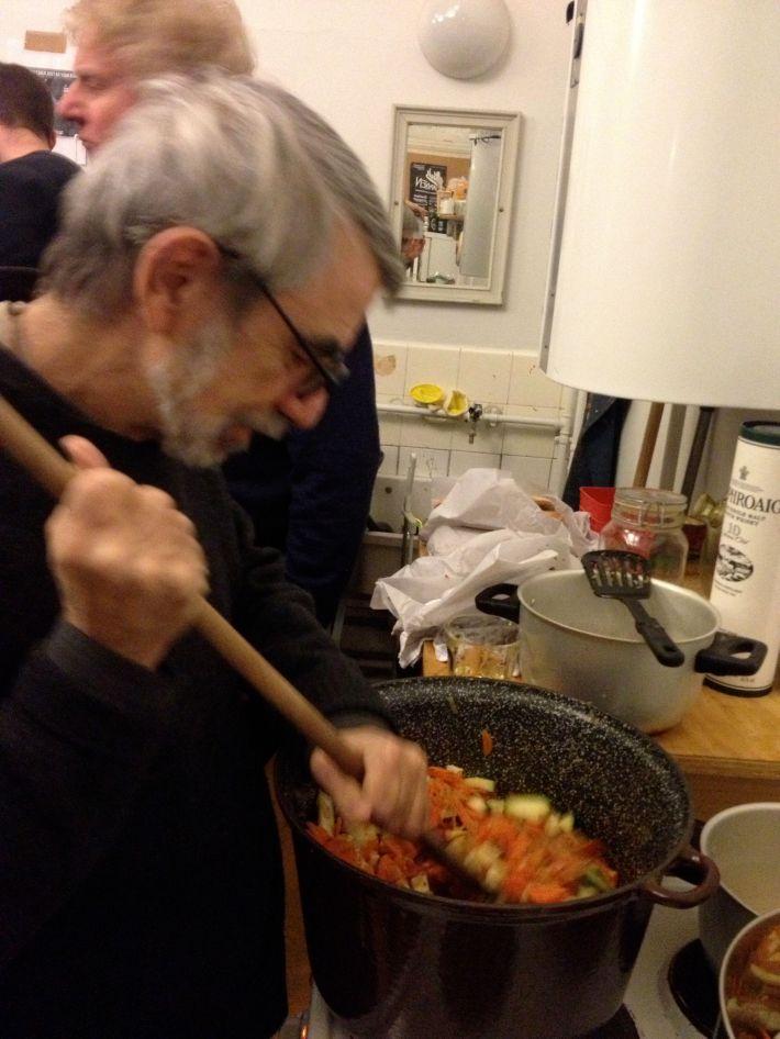 George stirring a vegetable stew