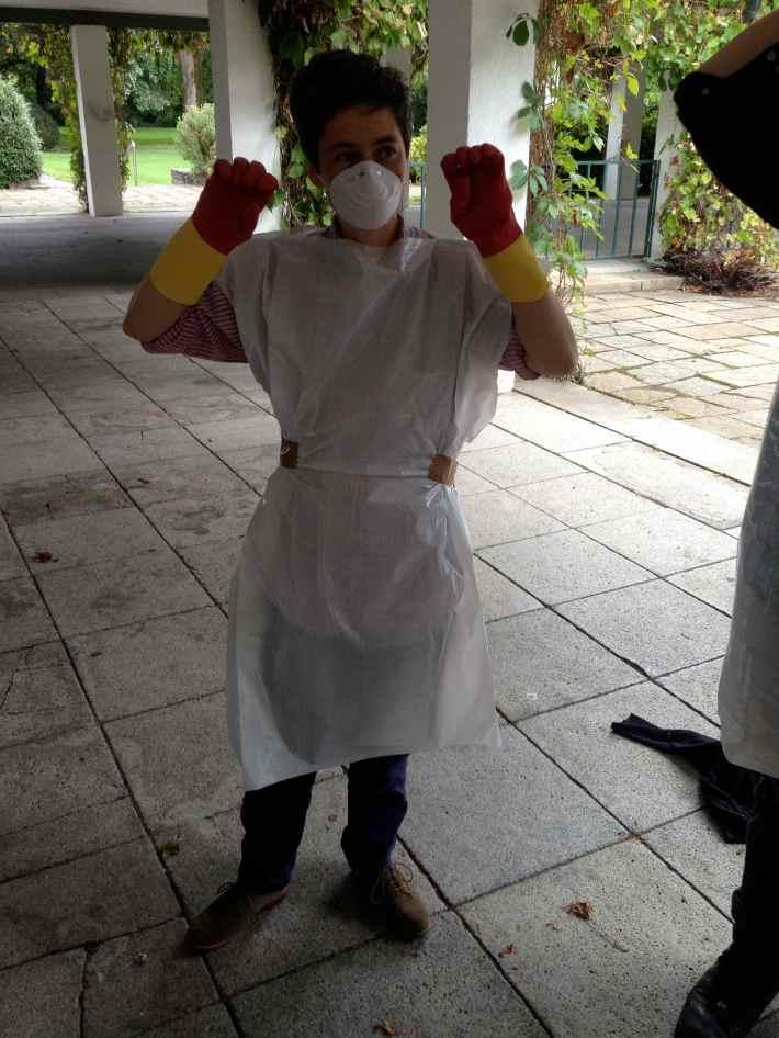 Emma Hedditch. Indigo dye workshop. Bad Tølz, Germany 2013